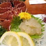 Ikesuhakataya - うちわ海老のお造り