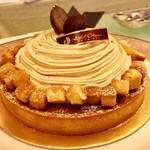 カフェレストラン テラス - マロンタルト(清水由紀)@秋の味覚、栗をたっぷりと使ったこの季節ならではのタルト