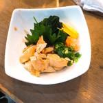魚椿 - あん肝ポン酢 480円