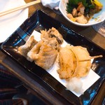 魚椿 - 天ぷら3種盛り 450円