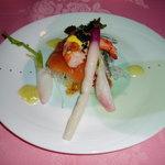 7509194 - 舞鶴産のマスのマリネと旬の野菜類