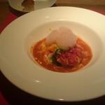 トラットリア フィオーレ - 聖護院大根の冷たいスープ