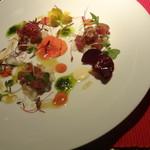 トラットリア フィオーレ - 白バルサミコを使ったライスサラダ