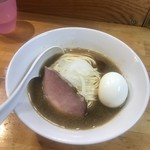煮干中華ソバ イチカワ - 醤油ソバ + 味玉