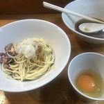 煮干中華ソバ イチカワ - 和え玉 + 生卵