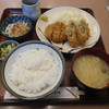 とんとん亭 - 料理写真:豚しそ揚げとメンチカツ