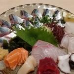 寿司 味処 河童 - 刺し盛りに、さんま刺しを追加しました。まいうーです。