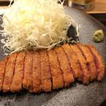 牛カツ専門店 京都勝牛 - 小さくカットされ、とても食べやすかった牛カツ