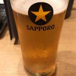 牛カツ専門店 京都勝牛 - 問題の生ビール