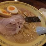 江川亭 - 味付玉子麺¥700+ランチセット(餃子3つ&小ライス)¥250