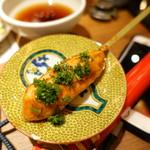 酒と肉天ぷら 勝天 - 鶏つくね