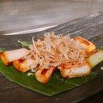 鉄板焼 広島お好み焼 ぶち - 長ネギの焦がし醤油