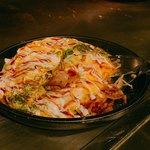 鉄板焼 広島お好み焼 ぶち - 六穀豚のネギしそとん平焼