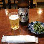 菱東 - 中瓶ビール 500円(税込) 2017年10月