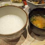 芦屋天がゆ - 粥、味噌汁