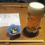 75100425 - 生ビール+突出し