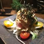 神田とりそば なな蓮 - 炙り鶏わさ(400円)