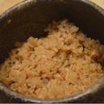 銀座 すし四季 - 赤酢の酢飯