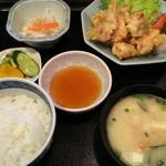 魚河岸 - とり天定食 ¥702