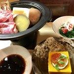 和食 直 - 豚肉と秋野菜。特製のポン酢だれが絶品