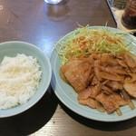 中華 味一 - 豚バラ生姜焼き定食820円ご飯少なめ