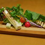 ヤマガタ サンダンデロ - 新鮮野菜のバーニャカウダ