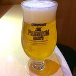 えり膳 - 「生ビール)(500円)。