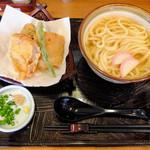 佐和 - かけうどん 天ぷらセット