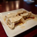 西安餃子 - ひとくち餃子裏返してアップ