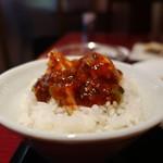 西安餃子 - やみつき麻婆豆腐オンザライス