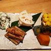 おわん - 料理写真:旬菜の盛り合わせ ・ほうれん草と舞茸の白和え ・甘酢れんこん ・ぎんなん ・かぼちゃのとんぶり和え ・叩きごぼうのきんぴら