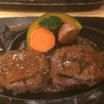 炭焼きレストランさわやか - げんこつハンバーグ(1,166円税別)
