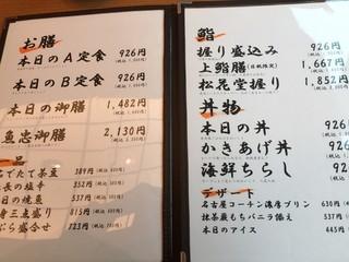 鮨酒肴や魚忠本店 - ランチメニュー