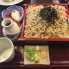 蕎麦司 紅がら - 料理写真:ざる蕎麦大盛(950円) 海苔が邪魔して、蕎麦を楽しめない。