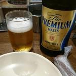 元祖串かつ だるま - 中瓶ビール 530円