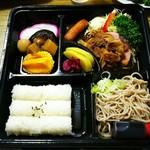 春木屋 - そば弁当 (豚のしょうが焼き) ¥880