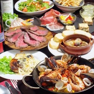 【コースもお得】沢山の料理が楽しめるうえ飲み放題プランまで!