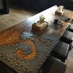 水屋 - 蔵の扉だったテーブル