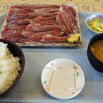 ばんや - ウルメイワシの刺身+定食