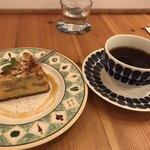 cafe PIENI KOTI - 料理写真:アーモンドケーキとコーヒーと伝票
