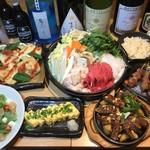 八郎酒場 - 牛もつすき鍋コース