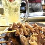 どての品川 - 料理写真:トン焼き、レバー