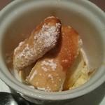 アップルサイダー - デザートのバニラアイスクリーム
