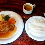 レストラン のや - レストラン のや@苗穂 日替わりランチ しょうが焼き(890円)