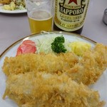 食事処 酒肴 水口 - 生アジフライ600円