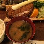 松村 - ロースかつ定食   1250円