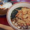 丹波屋 - 料理写真:たまねぎ天そば+ミニカレーセット(610円)