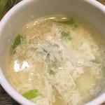 チョップスティックステーキ肉や - 玉子スープ☆★★☆