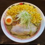 北海道らーめん 麺屋 たかまさ - 料理写真:旨味噌らーめん 麺大盛り コーン