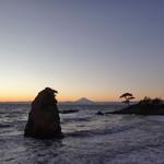 75132541 - 立石富士の黄昏